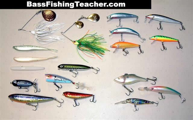 bass fishing tackle - bass fishing teacher, Hard Baits